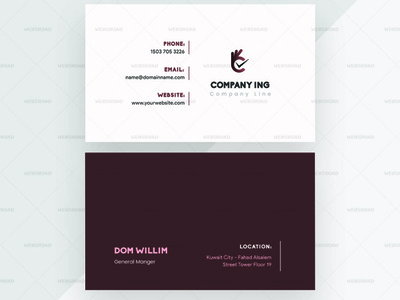 Portrato Agency Business Card Vector Premium Template | Websroad company brand design minimalist brand identity elegant agency brand set abstract vector abstract namecard multipurpose busniess simple fashion marketing corporate modren branding creative clean