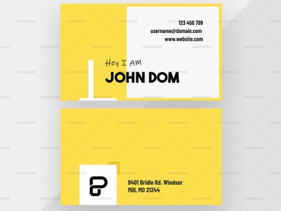 White and Yellow Business Card Premium Vector | Websroad elegant minimalist busniesscard idnetity new abstract vector abstract cool card namecard busniess multipurpose simple fashion marketing corporate modren branding creative clean