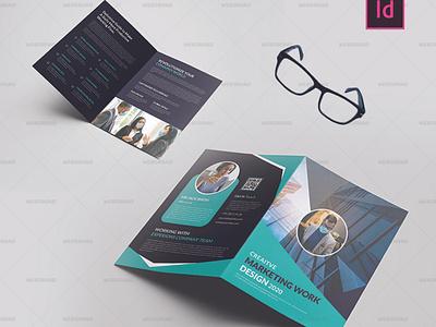 Embric Business BiFold Brochure Free Download | Websroad minimal corporate design brand identity indesign brand design new brochure business brochure business bifold busniess multipurpose simple marketing corporate modren branding creative clean