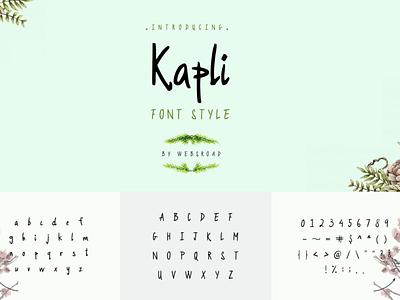 Kapli - Custom Handmade Font Style | websroad agency urban font handwritten fonts handwritten type written trend trendy stylish font style modern logo letter fontself fonts handwritten cool bold font