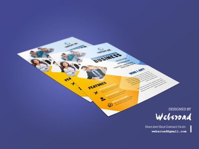 Build Pro Business Flyer Template | websroad creative design flayers cool style stylish template corporate restaurant ads food agency bussines creative branding advertising event mordern clean flyer
