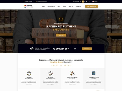 Lawyer & Attorney - Law Firm Website PSD Design solicitor responsive legal office lawyer law firm law justice counsel corporate consultant business barrister attorney advocate accountant