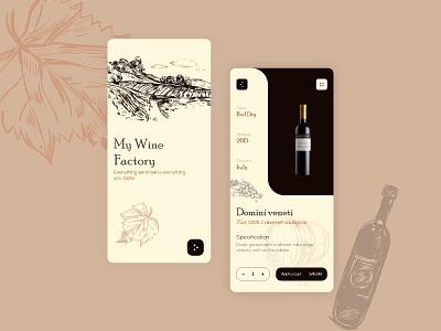Wine App Concept mobile app design mobile app minimal app design app uiux uidesign ui firstshot design