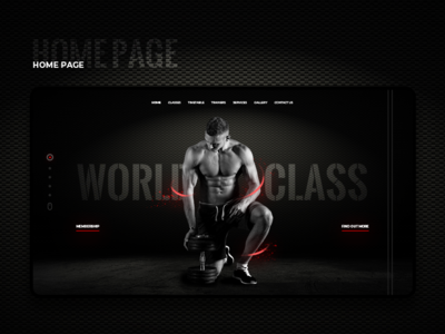 Gym website banner design