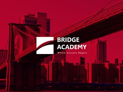 Bridge Academy design typography vector icon baku azerbaijan education academy bridge branding logo