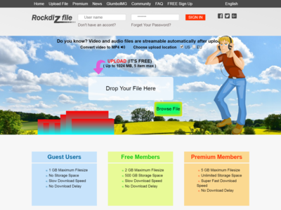 Project Rockdiz Smooth html webpage