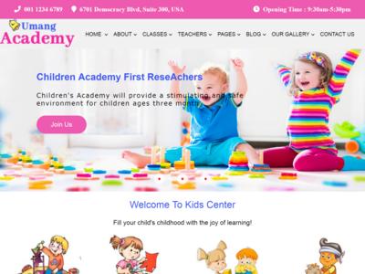 Kids Academy Web Page