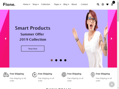 Smart Products Summer Offer html & css web page