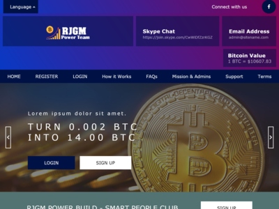 Project RJGM CryptoCurrency Web Page Design.