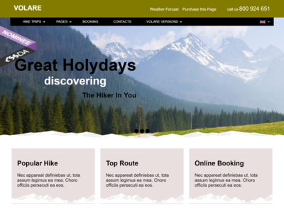 Project One Page Design - Hike Web Page