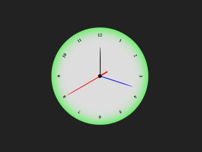 Analog clock with Javascript