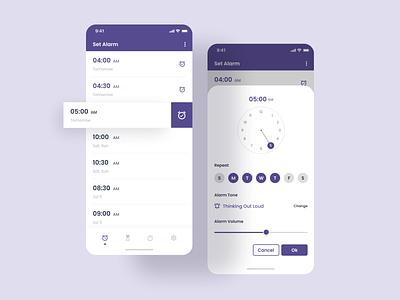 Alarm App Design alarmclock dribbble alarm app user experience user interface design dailyui ui inspiration behance stark trent design uiux uiuxdesign ui appdesign