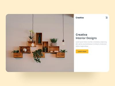 Creativa - Landing Page ui design dailyui landing page ui inspiration minimal stark trent behance user interface design branding ux uiux web ui web design