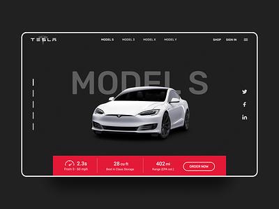 Tesla Website Redesign web inspiration redesign concept app design ui landing page website branding dailyui behance ui inspiration uiuxdesign stark trent car minimal ui user interface design web design ui design uiux