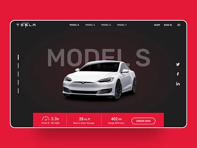 Tesla Website Redesign Concept stark trent webui ux uidesign ui uiuxdesigns uitrends uiinspiration tesla website design tesla website design website web minimal interface inspiration flat design web design