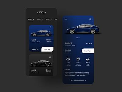 Tesla Mobile App Design user interface design designer stark trent uiux design flat sleekdesign minimal interface app design behance dailyui ui mobile ui mobile app tesla inspiration design app