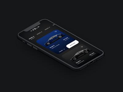 Tesla Mobile App application black uidesign flat sleek tesla ux uiuxdesign dailyui ui inspiration stark trent user interface design uiux minimal ui mockup appdesign