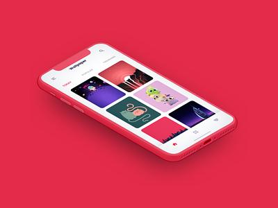 Wallpaper App Design app app design flat design uitrends uxui ui design wallpaper app app mockup uiuxdesign dailyui behance stark trent ui branding ui inspiration user interface design uiux minimal