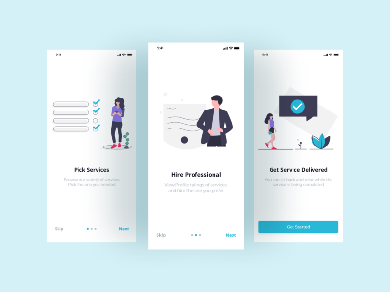 Home Service Booking App Onboarding Screens ui design ux process webdesign onboarding uidesign uiuxdesign behance dailyui stark trent appdesign ui inspiration user interface design uiux minimal ui