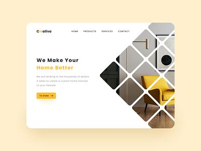 Creativa - Landing Page Redesign