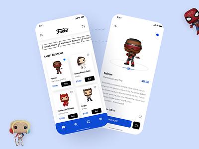 Funko App brand identity ui design funko app app ui design user experience design uiuxdesign behance stark trent appdesign dailyui ui inspiration ui uiux minimal