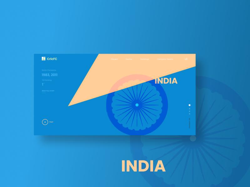 Homepage Concept - Poster ui design web design ux design minimalist india sports golden ratio dribbble cricket clean ui ux design homepage