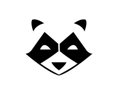 Raccoon raccoon logo critter