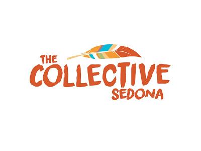 The Collective Sedona feather logo sedona