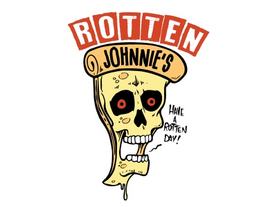 Rotten Johnnie's Pizza illustration rotten pizza punk