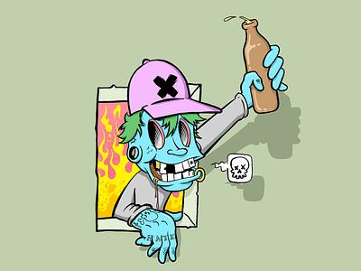 FTW illustration tobacco beer party ftw