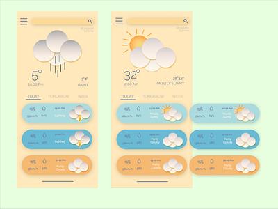 Weather Mobile App Ui Design mobile app design mobile uiux ux branding design app design app ui figma