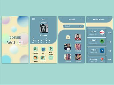 Wallet Mobile App UI UX Responsive Concept Design figmadesign figma wallet buttons button resume ui design uidesign typography branding uiux ux mobile app design flatdesign ui app design responsive design responsive