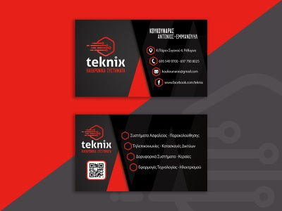 Teknix Business card ui ux branding typography flat vector design adobe photoshop adobe illustrator