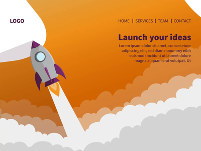 Launch Landing Page - Illustrations