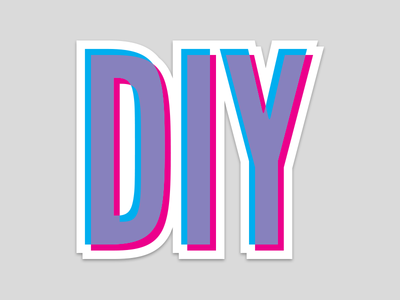 Diy do it yourself sticker by tommy skott dribbble diy do it yourself sticker solutioingenieria Images