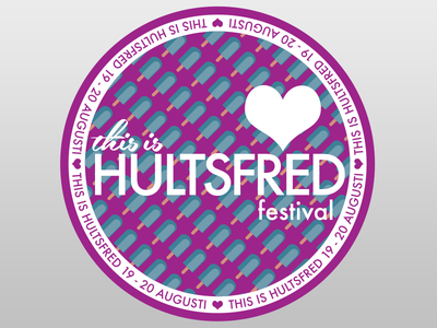 This Is Hultsfred Festival Sticker heart icecream music sticker logo festival