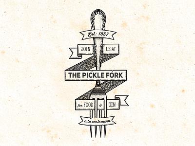The Pickle Fork affinity designer illustrator brushes free banners banner vintage logo restaurant vintage fork