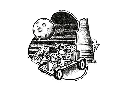 Celestial Sketchbook - Moon Buggy planetarium planetary rover buggy ufo aliens alien planets planet universe moon space