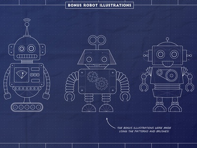 Blueprint robots by jeremy dribbble blueprint robots malvernweather Gallery