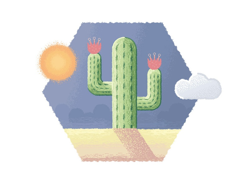 Cactus by Jeremy on Dribbble