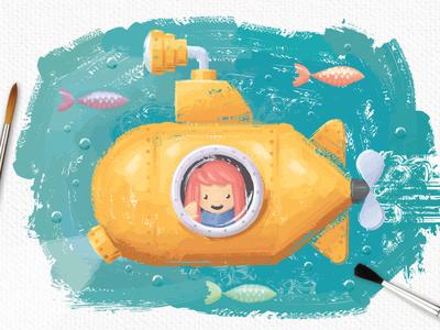 Oil Paint Submarine
