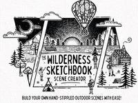 The Wilderness Sketchbook Scene Creator - Cover Design