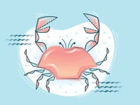 Mid-Century Modern Crab