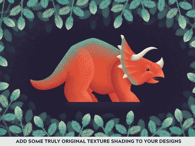 Modern Impressionist Triceratops