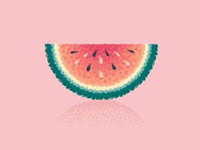 Melon illustrator brushes brush texture impressionism impressionist fruit melons melon