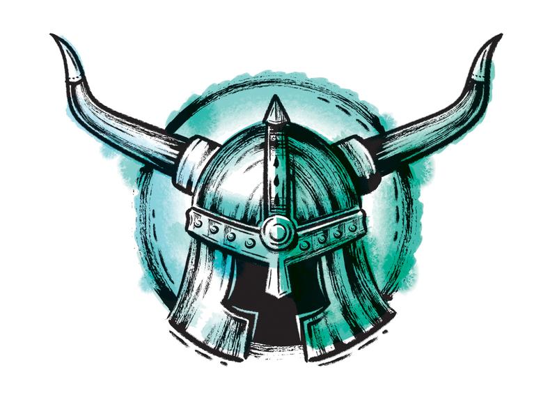 Viking Helmet intober vikings brushes brush vector illustrator inked ink viking helmet