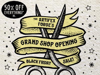 Artifex Forge Grand Opening NL opening grand ribbon scissors sailor jerry tattoos tattoo