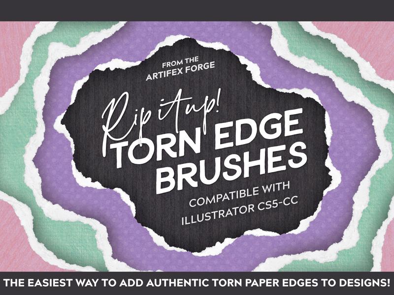 Tear it up - Torn Edge Brushes affinity designer affinitydesigner affinity brushes torn paper edge torn retro vector brush illustrator