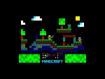 Minecraft demake zx spectrum 8 bits demake minecraft pixel pixel art