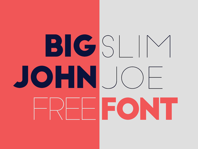 BigJohn / SlimJoe - FREE Font free font typography typeface ion lucin